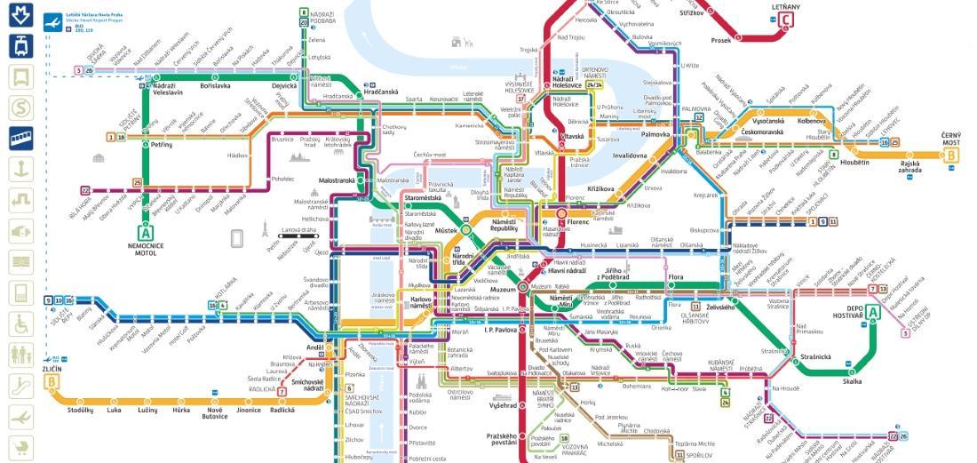 Cartina Autobus Londra.Mappa Di Praga In Pdf Da Stampare Monumenti Metro Tram E Bus